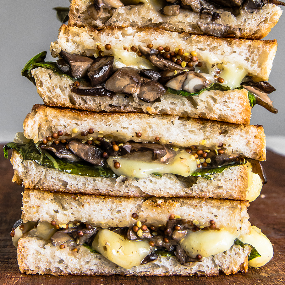 Grilled Cheese Feed- Grilled Brie and Mushrooms 5 (1 of 1)