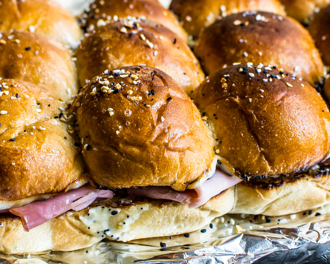 Grilled Cheese Feed- Ham Sandwich Sliders