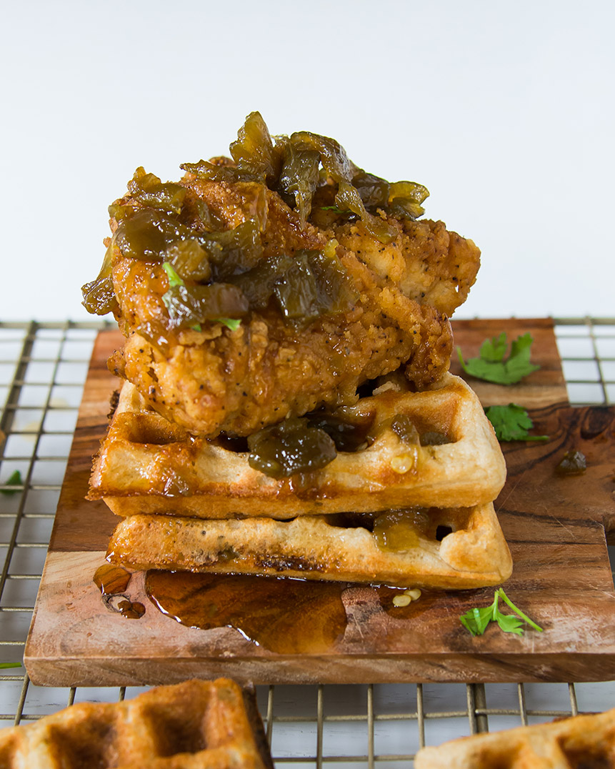 Hatch Chile Chicken and Waffles 3 (1 of 1)