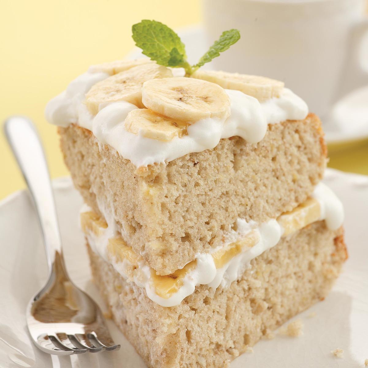 banana cream layer cake